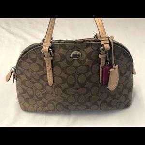 Coach Peyton signature Cora domed satchel